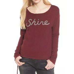 "Sundry ""Shine"" burgundy sweatshirt size 0"